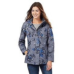 Maine New England - Grey floral print fleece lined jacket