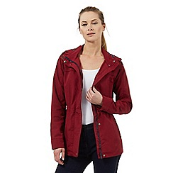 Maine New England - Dark red shower resistant jacket