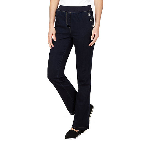 Maine New England - Dark blue button jeggings
