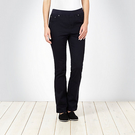 Maine New England - Navy ribbed waist jeggings