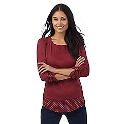 Maine New England - Dark red 2-in-1 top