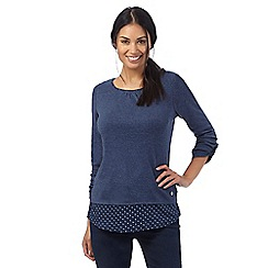 Maine New England - Blue 2-in-1 top