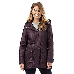 Maine New England - Dark purple waxed parka coat