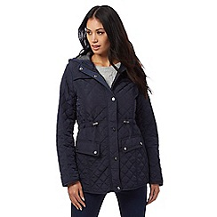 Maine New England - Navy quilted coat