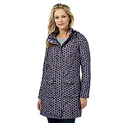 Maine New England - Dark purple leaf print shower resistant jacket