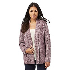 Maine New England - Purple textured cardigan