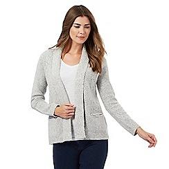 Maine New England - Light grey textured cardigan
