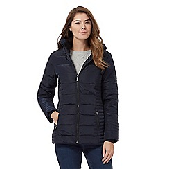 Maine New England - Navy blue fur collar down jacket