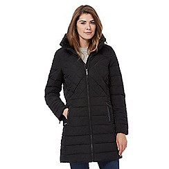 Maine New England - Black concealed hood quilted coat