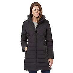 Maine New England - Dark grey faux fur collar down jacket