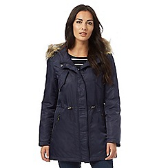 Maine New England - Blue fur hood padded coat
