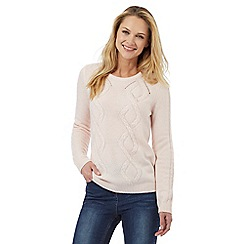 Maine New England - Pale pink cable knit jumper