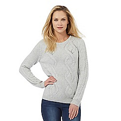 Maine New England - Grey cable knit jumper