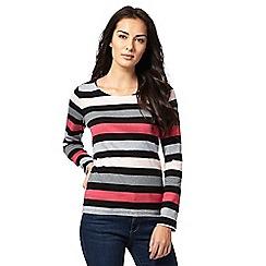 Maine New England - Grey long sleeve stripe shirt