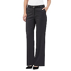 Maine New England - Dark grey striped Pablo trousers