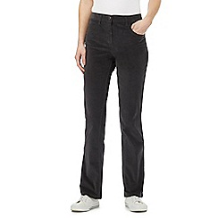 Maine New England - Dark grey cord stretch trousers
