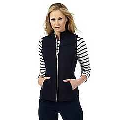 Maine New England - Navy quilted jersey gilet