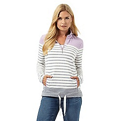 Maine New England - Lilac striped funnel neck sweater