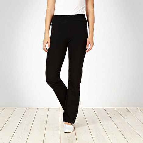 Maine New England - Black stitched jogging bottoms
