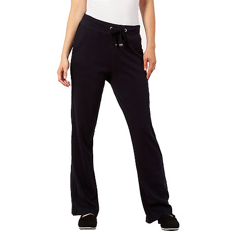 Maine New England - Navy straight leg drawstring trousers