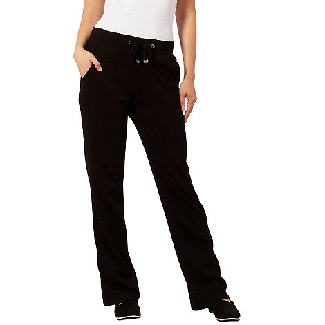 Maine New England - Black straight leg drawstring trousers