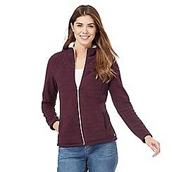 Maine New England - Dark purple quilted fleece jacketß