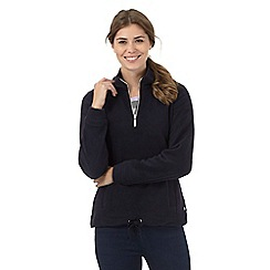 Maine New England - Navy fleece funnel neck top