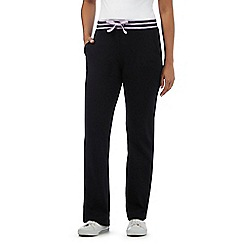 Maine New England - Black striped waistband jogging bottoms