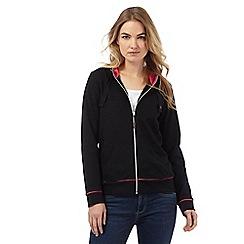 Maine New England - Black zip-through hooded sweatshirt