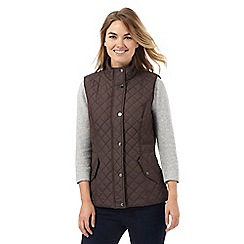 Maine New England - Taupe quilted gilet