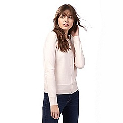 Maine New England - Pale pink crew neck cardigan