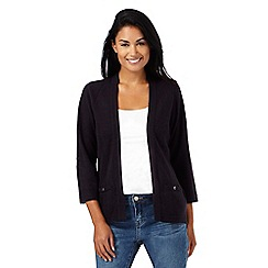 Maine New England - Navy ribbed insert cardigan