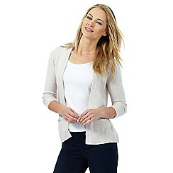 Maine New England - Cream ribbed insert cardigan