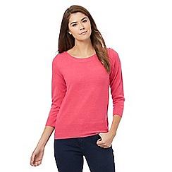 Maine New England - Pink button detail jumper