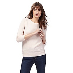Maine New England - Pale pink slash neck jumper