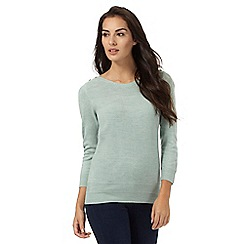 Maine New England - Pale green slash neck jumper