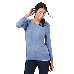 Maine New England - Blue button detailed jumper