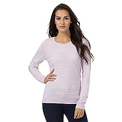 Maine New England - Lilac ripple stitch jumper