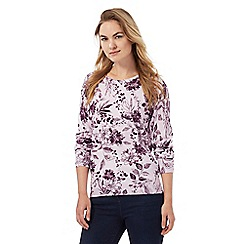 Maine New England - Lilac stitched floral jumper