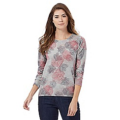Maine New England - Grey floral print jumper