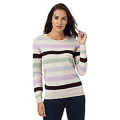 Maine New England - Multicoloured striped jumper