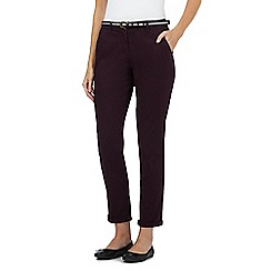 Maine New England - Dark purple belted chinos
