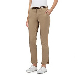 Maine New England - Beige belted chinos