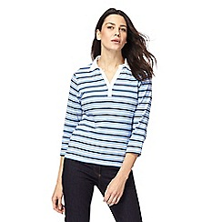 Maine New England - Pale blue striped top