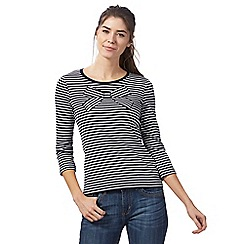 Maine New England - Navy bow intarsia top