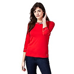 Maine New England - Red bow trim top