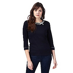 Maine New England - Navy bow trim top