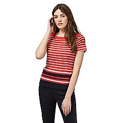Maine New England - Red stripe jersey top