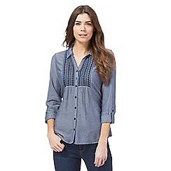 Maine New England - Blue chambray button down shirt