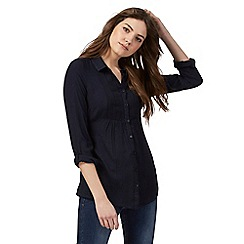Maine New England - Navy button down embroidered shirt